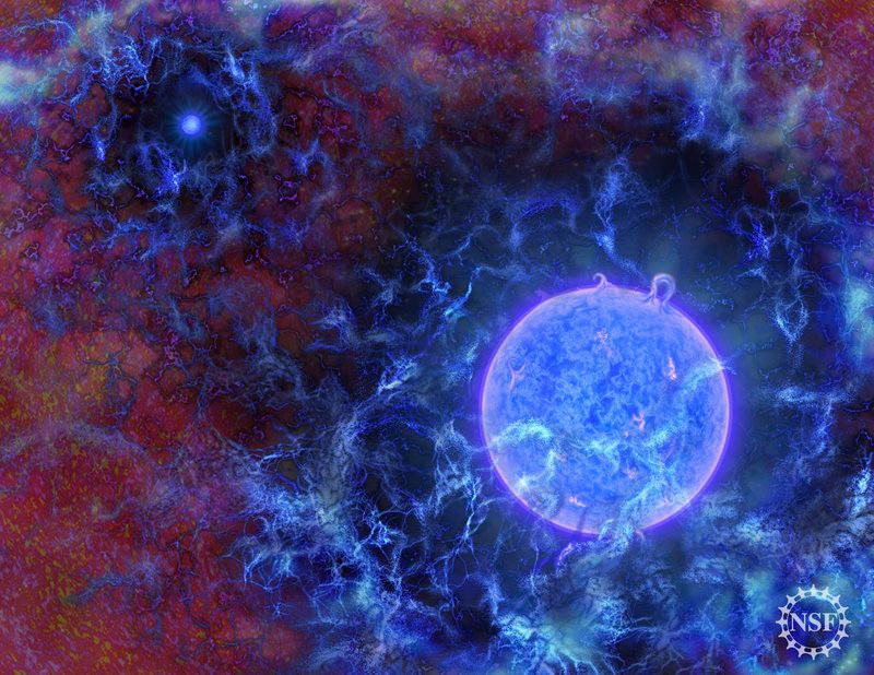De National Science Foundation maakte een schatting van hoe het universum er bij de vorming van de eerste planeten uitzag.