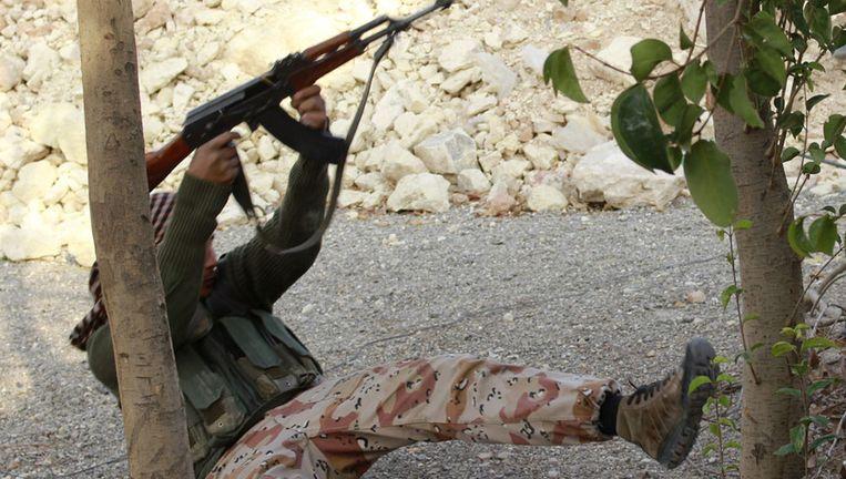 Syrische rebel in Aleppo Beeld afp