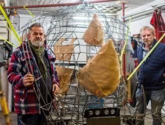 Kaaimannen stellen spectaculaire installatie voor: 'White GrOlephant' moet dé eyecatcher worden op Vlaamse theaterfestivals