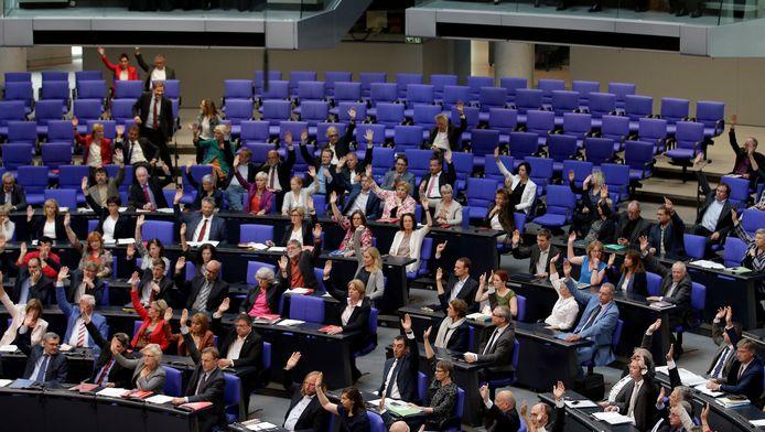 Stemming in het Duitse parlement