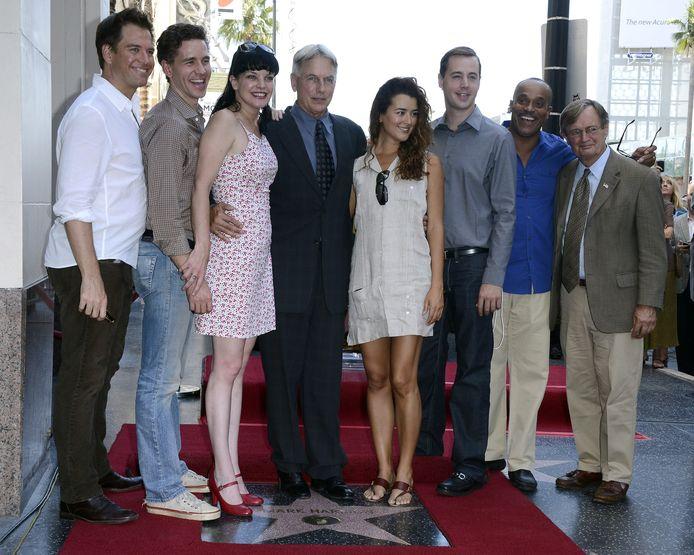 De toenmalige cast van NCIS in 2012.