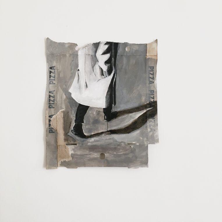 'Study on pizzabox', van Aldo van den Broek. Beeld Collectie Ernst van de Water