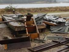 Vogelkijkhut bij Keelven Someren is niet meer, gevolg van waarschijnlijk niet alledaags vuurwerk