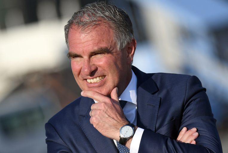 Carsten Spohr, CEO van de Lufthansa Group. Hij wil dat Brussels Airlines, dat deel uitmaakt van de luchtvaartgroep, overheidssteun krijgt van België.  Beeld REUTERS