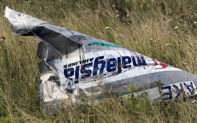 Onderdeel van de Boeing 777 van de vlucht MH17. Beeld anp