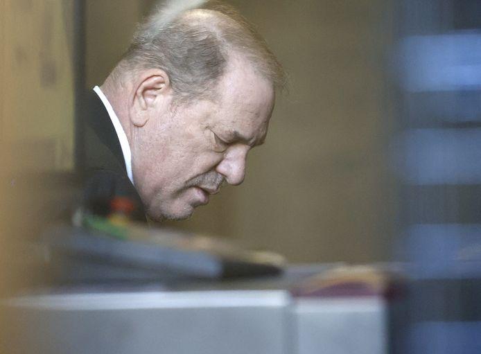 Archiefbeeld. Harvey Weinstein arriveert bij het Hooggerechtshof van de staat New York. (21/02/2020)