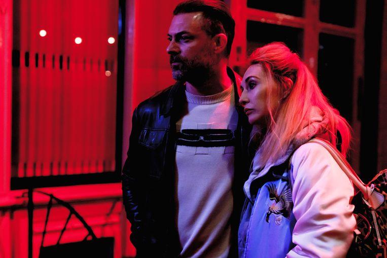 Geert Van Rampelberg en Carice van Houten in 'Red Light' Beeld Streamz