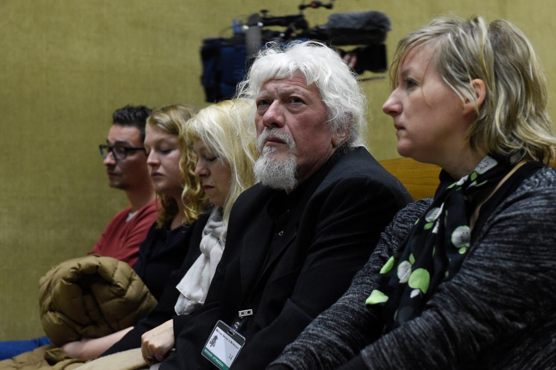 Jan Jacob op het proces over de dood van zijn zoon Jonathan. Beeld Photo News
