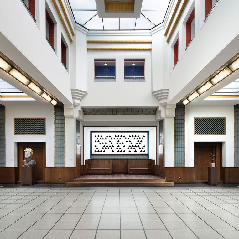 Kunstwerk door Bridget Riley Beeld Gemeentemuseum Den Haag