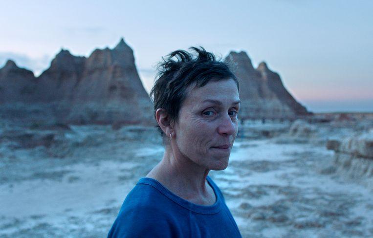 Frances McDormand in 'Nomadland'.   Beeld AP