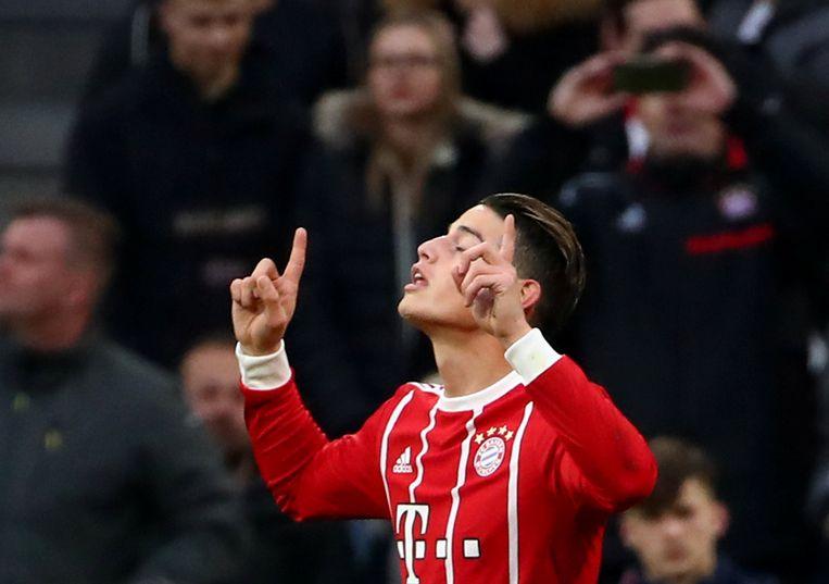 James Rodriguez scoorde afgelopen weekend nog tegen Borussia Dortmund. Bayern won met 6-0.