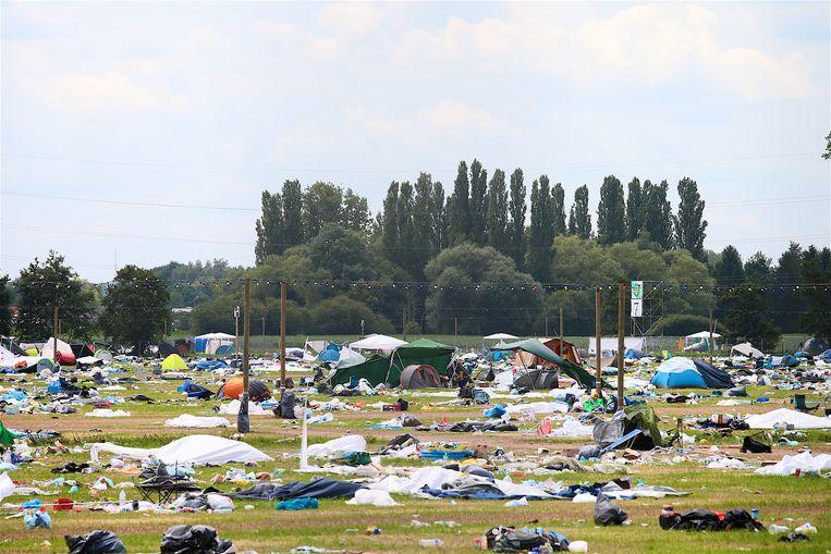 Een kampeerterrein van Rock Werchter, ná het festival. Beeld Tomas Sisk/Photo News