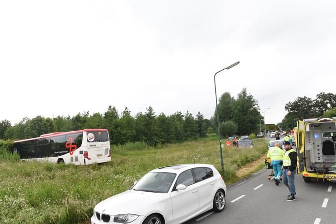 Ongeluk op de IJsseldijk in IJsselstein.