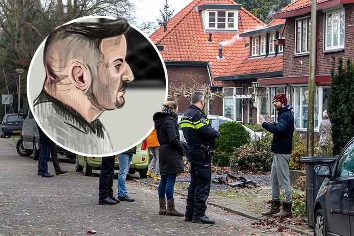 Burak werd veroordeeld voor de vuurwerkbom aan de Havezatelaan in Deventer.