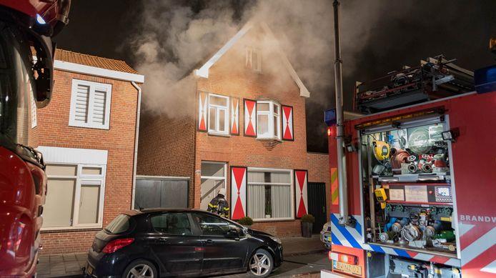 Brand aan de Pastoor Smitsstraat in Tilburg, in januari. Binnen stond een hennepkwekerij.
