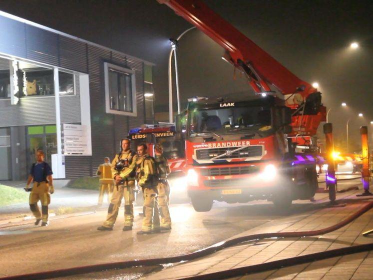 Brandweer rukt uit voor brand bedrijfspand