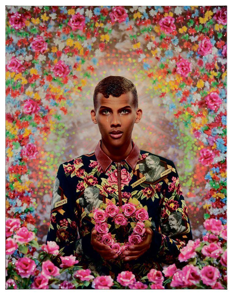 Stromae is een van de vele sterren geportretteerd door het eigenzinnige duo. Beeld Collection privee -c- Pierre - Gilles