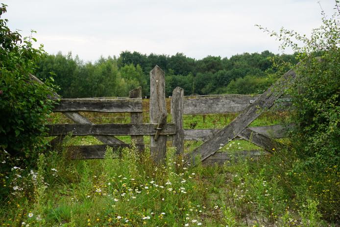 De poort van landgoed Blauwrijk in Uden.