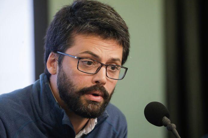 Emmanuel André,  le porte-parole interfédéral Covid-19.