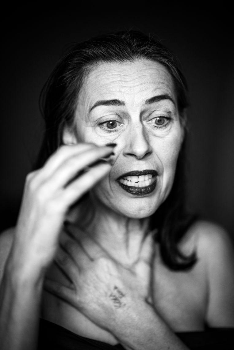 Adelheid Roosen: 'Zorgverleners hebben bijna geen tijd over om iemand te aaien.' Beeld Adelheid Roosen