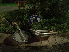 Automobilist veroorzaakt ravage op rotonde in Oosterhout