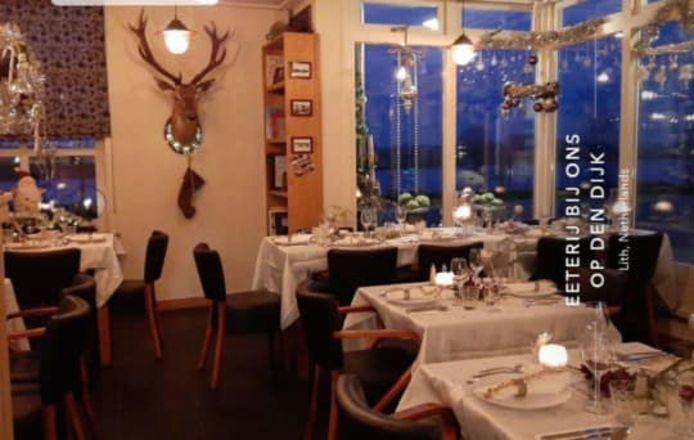 Het interieur van Eeterij Bij ons op den dijk in Lith. Het restaurant is definitief gesloten.