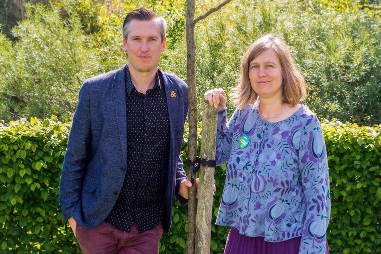 CD&V-voorzitter Chris Truyen en Ann Morissens, nummer 2 op kartellijst en initiatiefneemster van Groen-afdeling Boortmeerbeek.