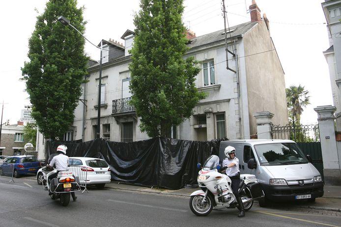 Het vreselijke gezinsdrama speelde zich af in dit huis in het centrum van Nantes.