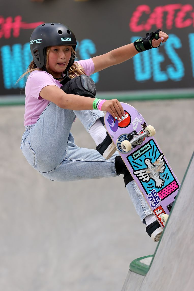 Skateboardster Sky Brown (13) Beeld Getty Images