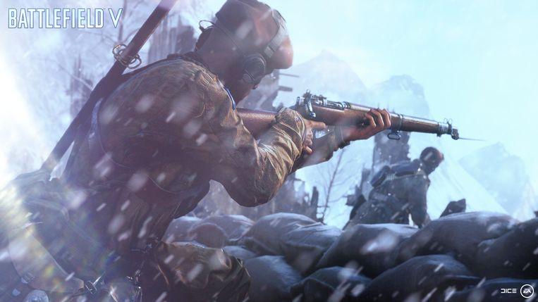 In 'Battlefield V' worden er minder bekende strijdtonelen uit WOII geëxploreerd. Beeld Electronic Arts