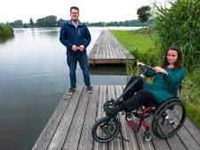 Mooi nieuw strand bij Haarrijnseplas, maar voor Andrea met rolstoel ontoegankelijk: 'Alsof je niet meetelt'