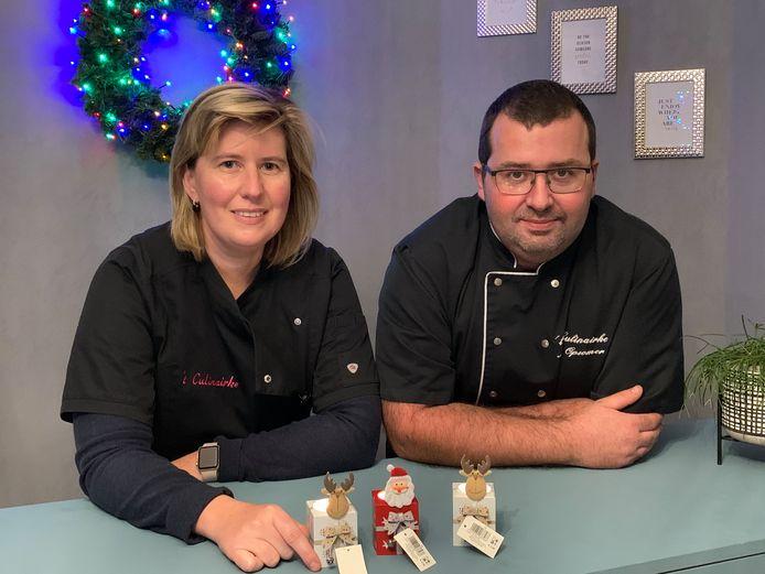 't Culinairke deelt kerstlichtjes uit.