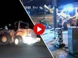 Video van de Dag | Kijk nou in de politie-achtervolging: die shovel gaat er met motoren en al van door