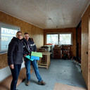 Esther en Alex Voogt zijn nog volop aan het klussen in hun mini-woning.
