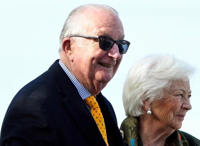 Le roi Albert et la reine Paola, en visite à Ostende, en mars 2018.