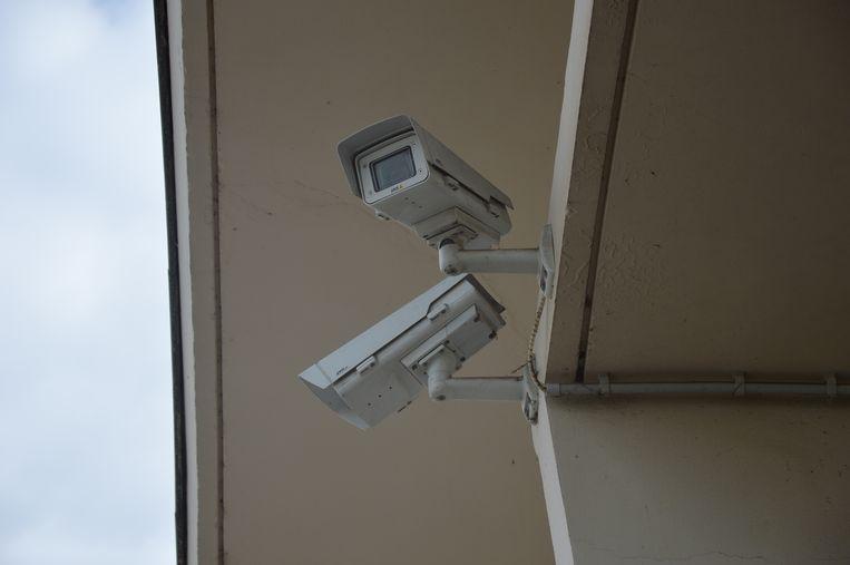 Enkele camera's aan het station van Denderleeuw.