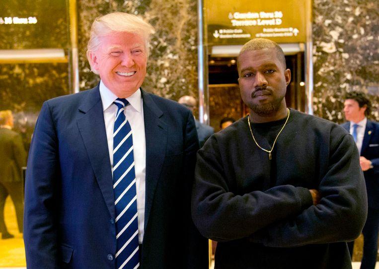 Kanye West met Donald Trump eind 2016. Beeld AP