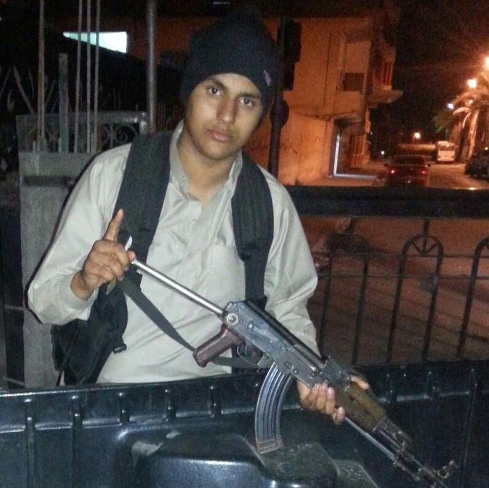 De meest recente foto van Abdellah Nouamane, de man die de bedreigingen uitte.