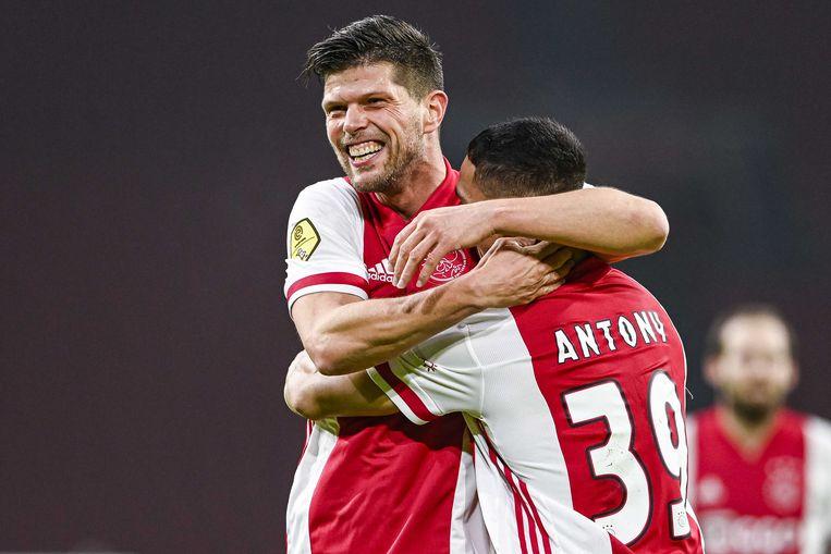 Klaas-Jan Huntelaar maakte zaterdag zijn 150ste doelpunt in de eredivisie.  Beeld Olaf kraak/ANP
