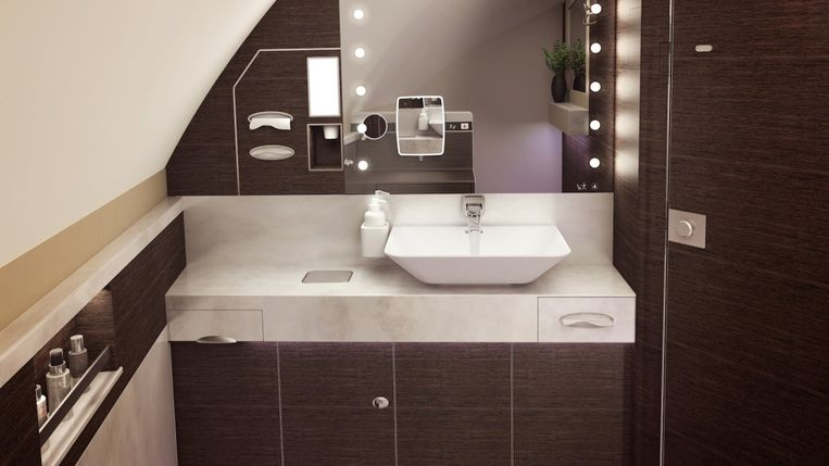 Een luxebadkamer