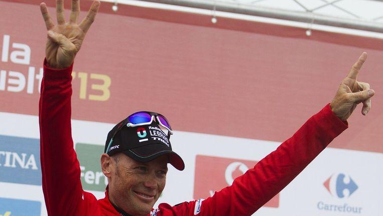 41 jaar en de Vuelta winnen, dat moet met de vingers in de verf gezet worden Beeld AFP
