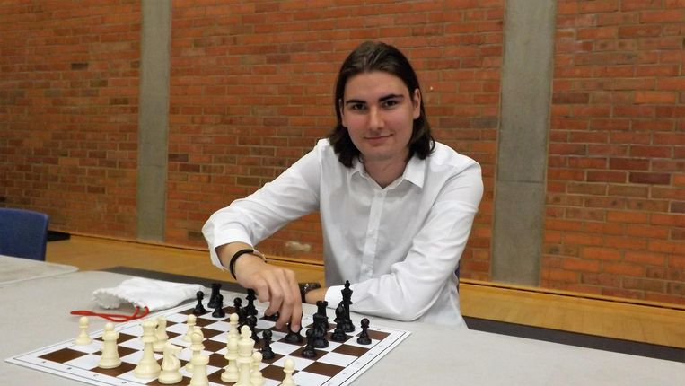 Nathan De Strycker op het BK schaak in Niel.