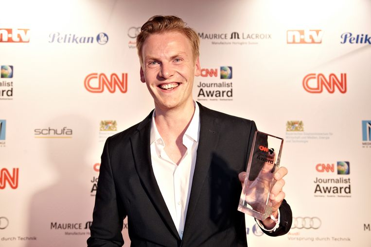 """Claas Relotius kreeg in 2014 de """"Reporter van het Jaar""""-award van CNN."""