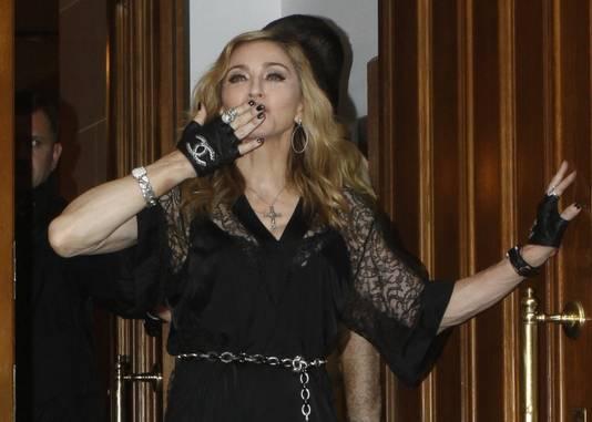 Madonna gisteren in Moskou.