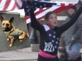 Cette jeune fille court un semi-marathon en l'honneur d'un chien policier décédé