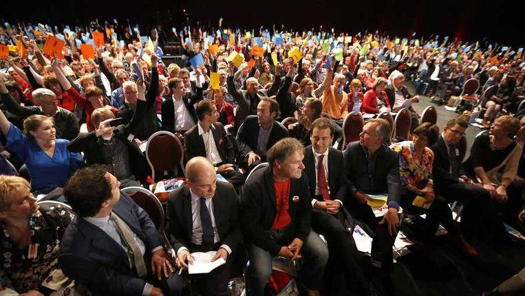 Beeld van het PvdA-congres in Leeuwarden afgelopen weekend. Beeld anp