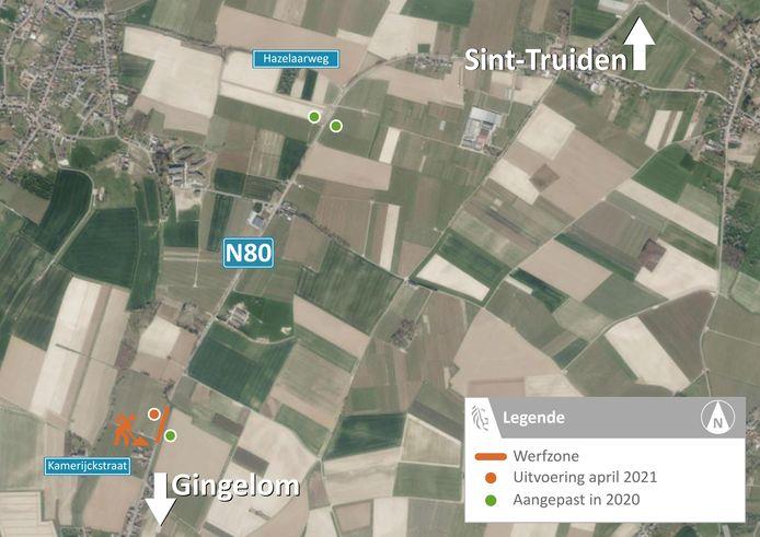 Het Agentschap Wegen en Verkeer start komende maandag met de aanpassing van de vierde passeerhaven langs de N80 in Sint-Truiden en Gingelom.