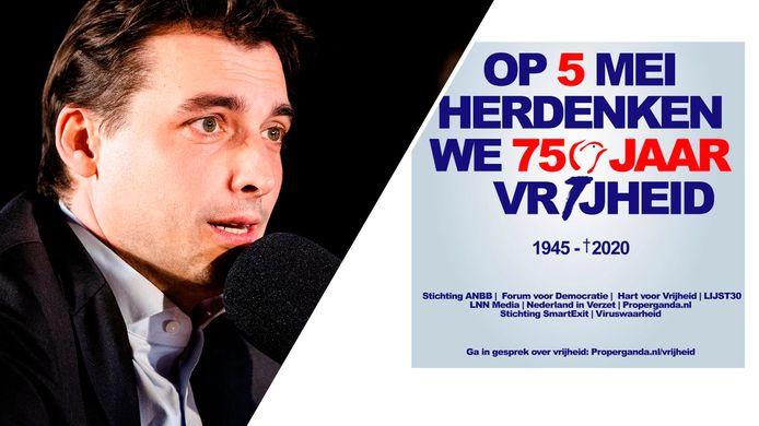 In politiek Den Haag werd verontwaardigd gereageerd op een poster over Bevrijdingsdag die Forum voor Democratie verspreidde op sociale media.