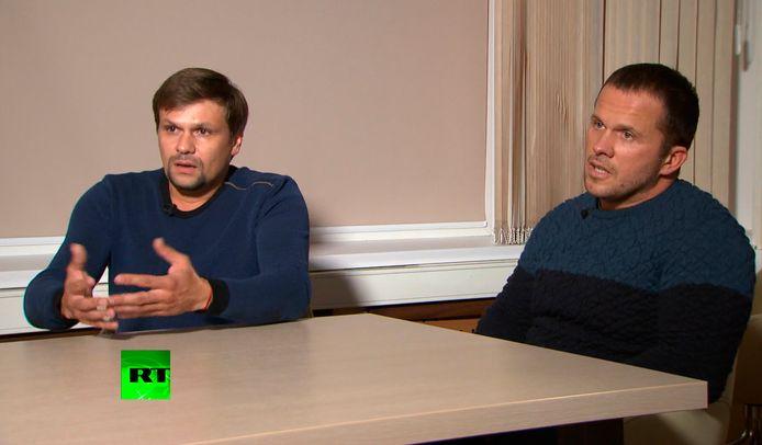 Archiefbeeld Alexander Petrov en Ruslan Boshirov