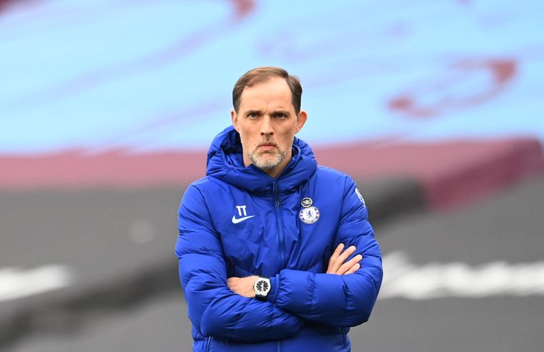 Thomas Tuchel, de Duitse coach van Chelsea Beeld Pool via REUTERS